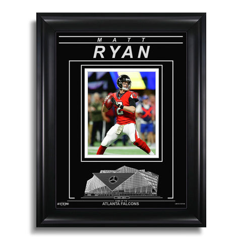 Matt Ryan Atlanta Falcons Engraved Framed Photo - Action