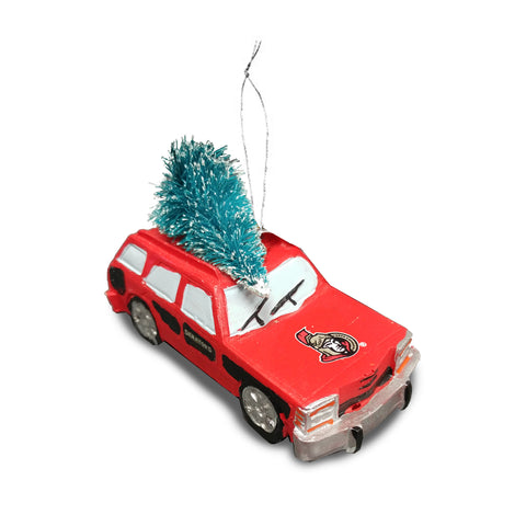 Ottawa Senators NHL Station Wagon Tree Ornament