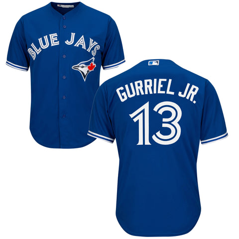 Men's Lourdes Gurriel Jr. Toronto Blue Jays MLB Cool Base Replica Away Jersey