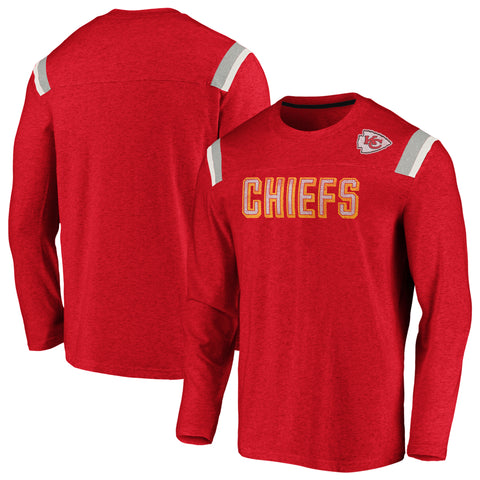 Kansas City Chiefs NFL Fanatics Vintage Slub Long Sleeve