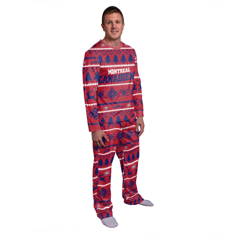 Men's Montreal Canadiens NHL Wordmark Pajama Set