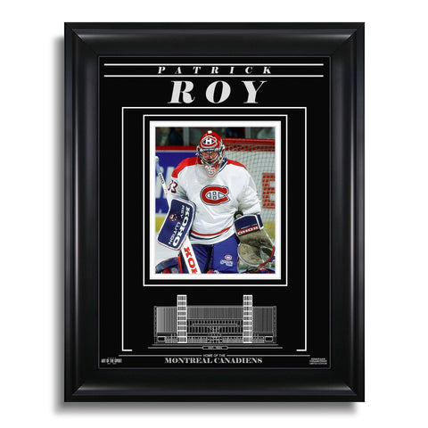 Patrick Roy Montreal Canadiens Engraved Framed Photo - Focus