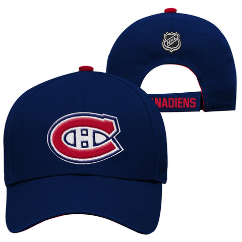 Youth Montreal Canadiens NHL Basic Structured Adjustable Cap