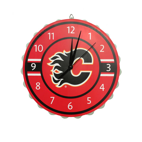 Calgary Flames NHL Bottle Cap Wall Clock