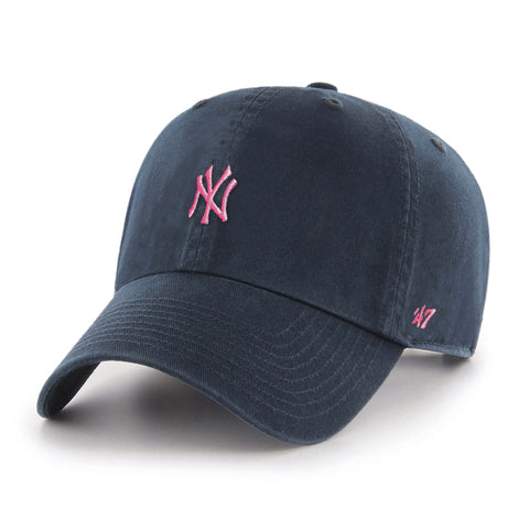 Ladies' New York Yankees MLB Minimalist Pink Logo Cap