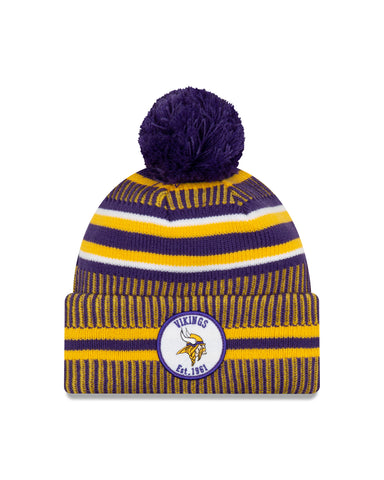 Minnesota Vikings NFL New Era Sideline Home Official Cuffed Knit Toque