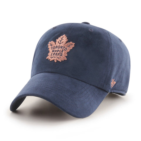 Women's Toronto Maple Leafs NHL Uptown Suede Navy Clean Up Cap