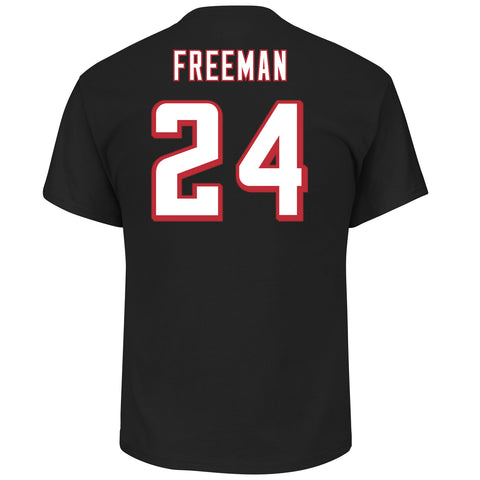 Atlanta Falcons Devonta Freeman #24 Black Eligible Receiver T-Shirt