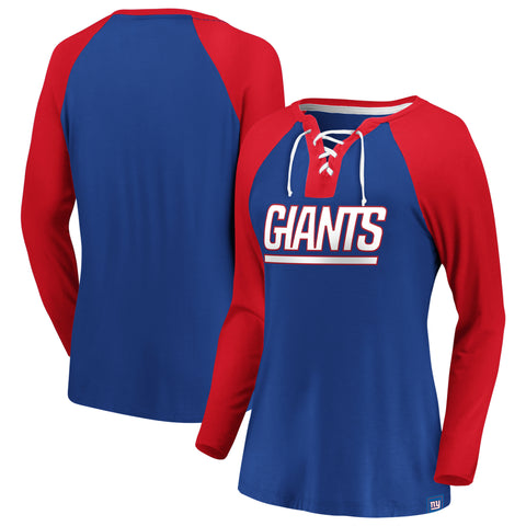Ladies' New York Giants NFL Fanatics Break Out Play Lace-Up Long Sleeve