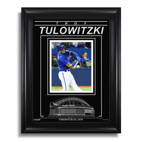 Troy Tulowitzki Toronto Blue Jays Engraved Framed Photo - Action Hit