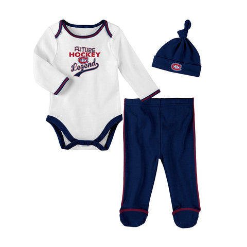 Infant Montreal Canadiens NHL Future Legend Creeper Pant & Hat Set