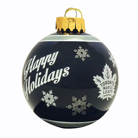 Toronto Maple Leafs Printed Glass Ball Ornament