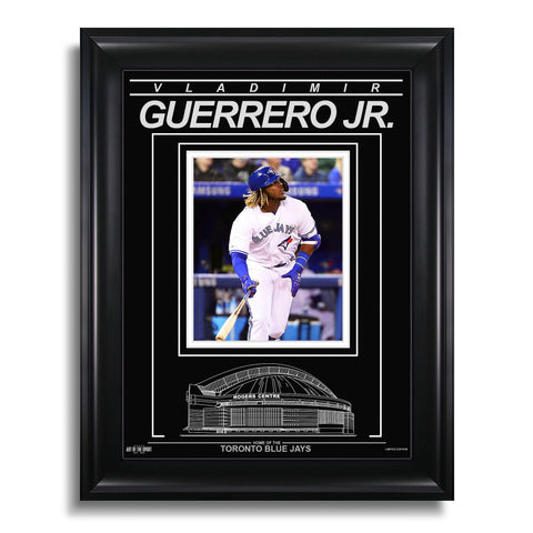 Vladimir Guerrero Jr. Toronto Blue Jays Engraved Framed Photo - Action