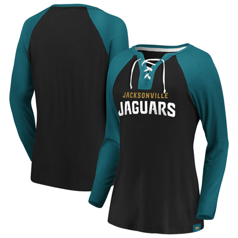 Ladies' Jacksonville Jaguars NFL Fanatics Break Out Play Lace-Up Long Sleeve