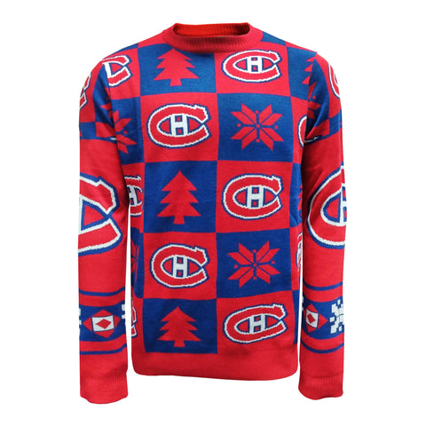 Montreal Canadiens Men's Ugly Patchwork Sweater