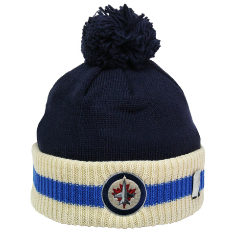 Winnipeg Jets Stripe Cuffed Pom Knit Toque