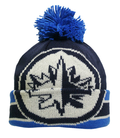 Winnipeg Jets Oversized Logo Cuffed Pom Knit Toque