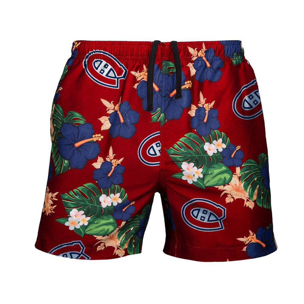 e96a6bd4e6 Men's Montreal Canadiens NHL Floral Slim Fit Swim Trunks – Sport Army