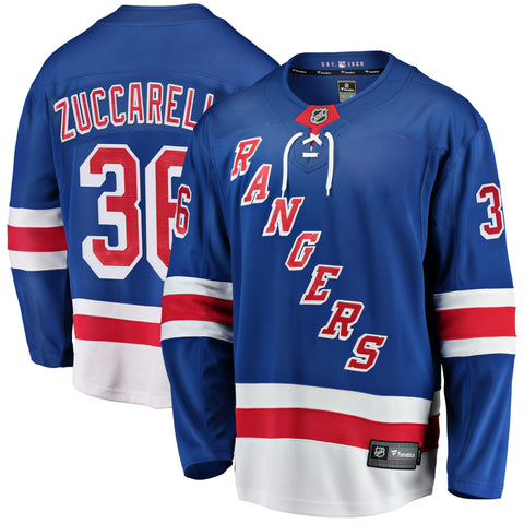 Mats Zuccarello New York Rangers NHL Fanatics Breakaway Home Jersey