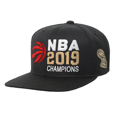 Youth Toronto Raptors NBA 2019 Champions Black Flat Brim Cap