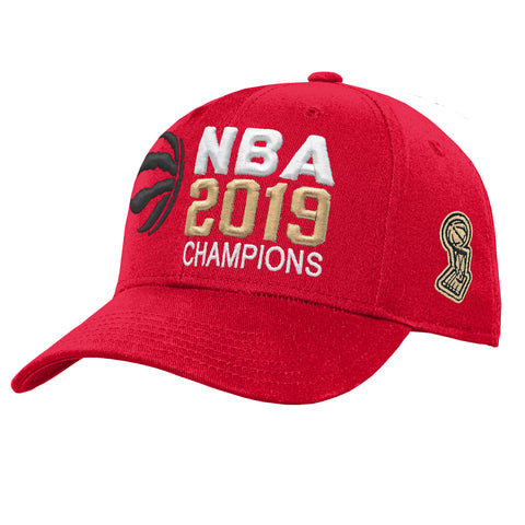 Youth Toronto Raptors NBA 2019 Champions Red Adjustable Cap