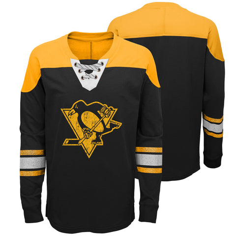 Youth Pittsburgh Penguins NHL Perennial Long Sleeve Hockey Crew