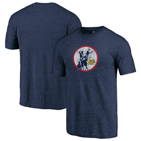 Kansas City Scouts NHL Distressed Vintage Primary Tri-Blend Tee