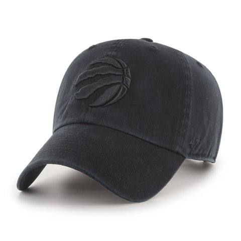 Men's Toronto Raptors NBA Black-On-Black Claw Clean Up Cap