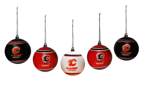 Calgary Flames 5pk Shatterproof Ball Ornament