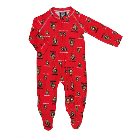 Infant Ottawa Senators NHL Raglan Zip Up Coverall