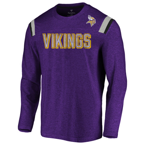Minnesota Vikings NFL Fanatics Vintage Slub Long Sleeve