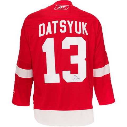 Pavel Datsyuk Signed Detroit Red Wings Jersey
