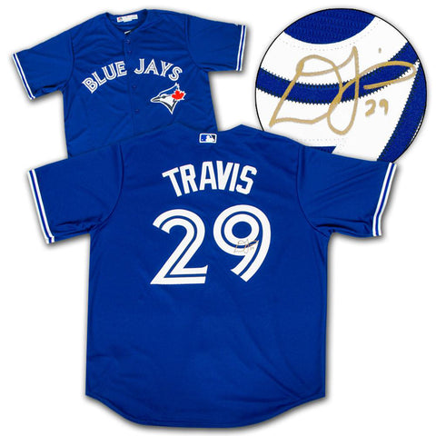 Devon Travis Signed Toronto Blue Jays Away Jersey