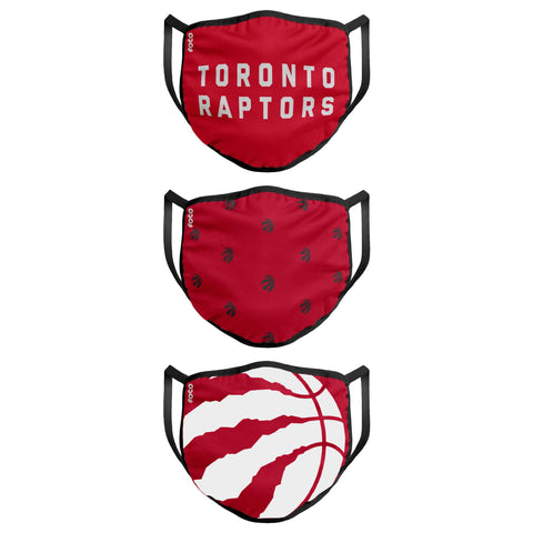 Unisex Toronto Raptors NBA 3-pack Reusable Face Covers