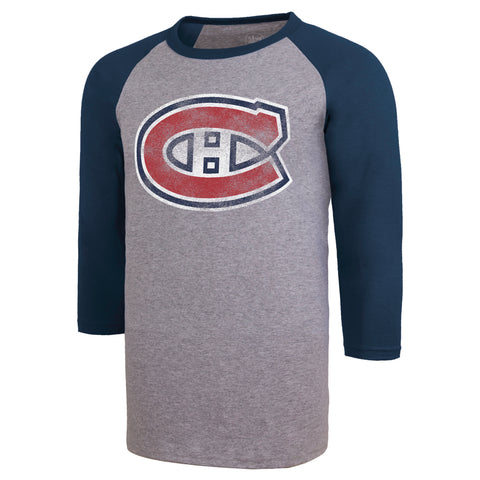 Men's Montreal Canadiens NHL Distressed Imprint '47 Club Raglan