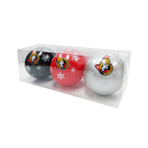 Ottawa Senators NHL 3-Pack Shatterproof Ornaments