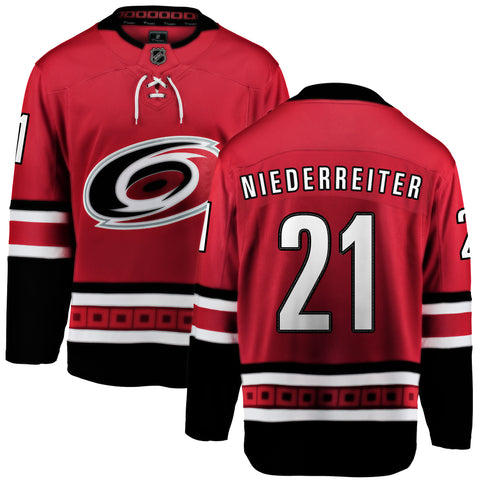 Nino Niederreiter Carolina Hurricanes NHL Fanatics Breakaway Home Jersey