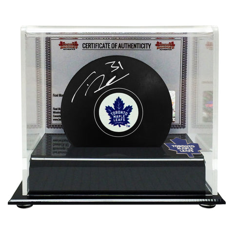 Frederik Andersen Signed Toronto Maple Leafs Puck