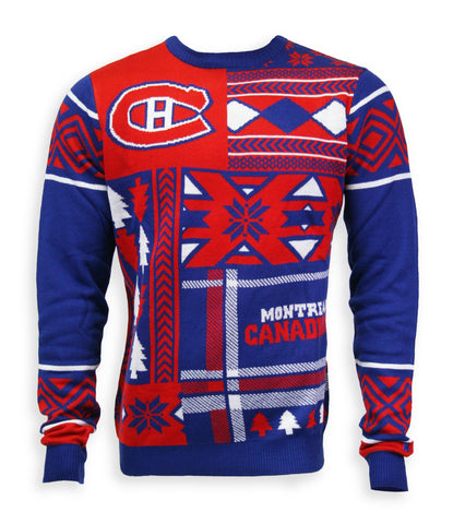 Montreal Canadiens Mens Patchwork Crew Sweater