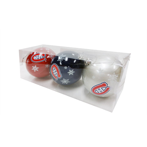 Montreal Canadiens NHL 3-Pack Shatterproof Ornaments