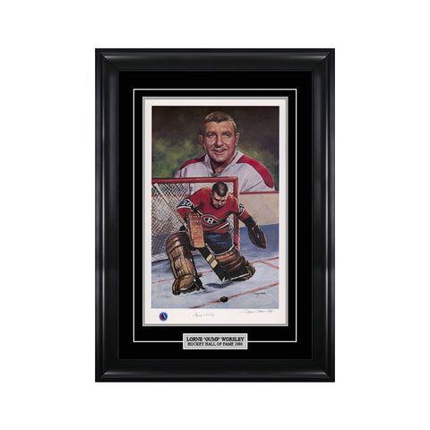 Gump Worsley Signed Montreal Canadiens Limited Edition Print
