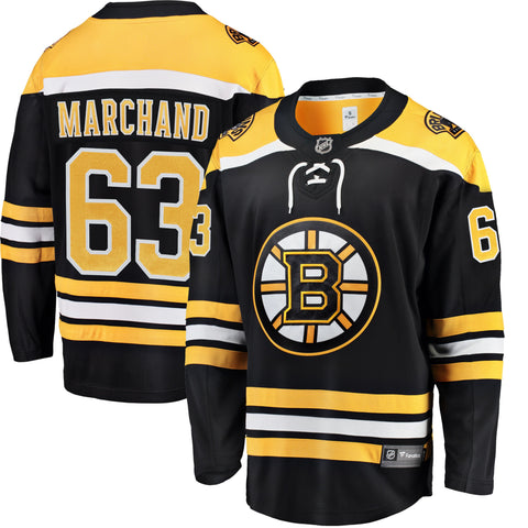 Brad Marchand Boston Bruins NHL Fanatics Breakaway Home Jersey