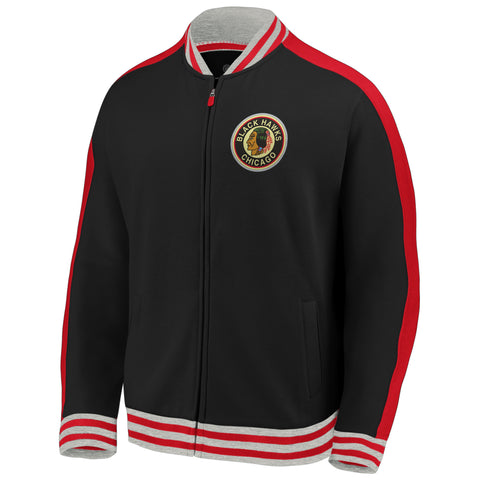 Chicago Blackhawks NHL Vintage Varsity Super Soft Full-Zip