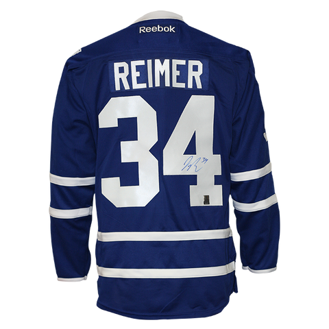 James Reimer Signed Toronto Maple Leafs Jersey