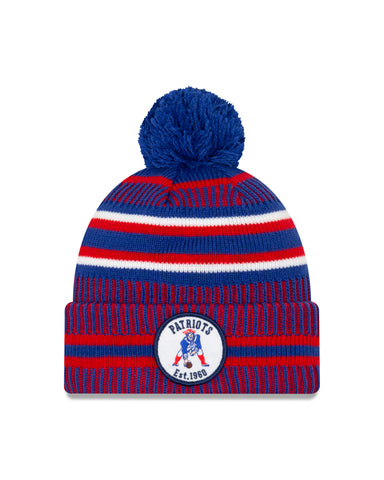 New England Patriots NFL New Era Sideline Home Official Alt Logo Cuffed Knit Toque
