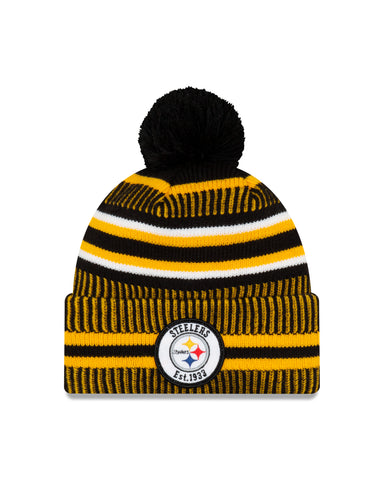 Pittsburgh Steelers NFL New Era Sideline Home Official Cuffed Knit Toque