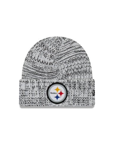 Ladies' Pittsburgh Steelers NFL New Era Sideline Team logo Cuffed Knit Toque