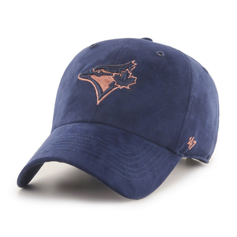 Women's Toronto Blue Jays MLB Uptown Suede Navy Clean Up Cap