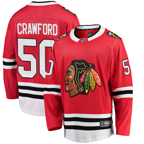 Corey Crawford Chicago Blackhawks NHL Fanatics Breakaway Home Jersey