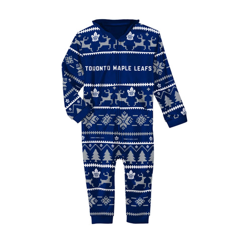 Unisex Toronto Maple Leafs NHL Wordmark Hooded Pajama Onesie
